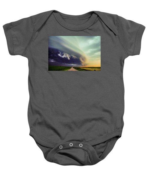 Classic Nebraska Shelf Cloud 024 Baby Onesie
