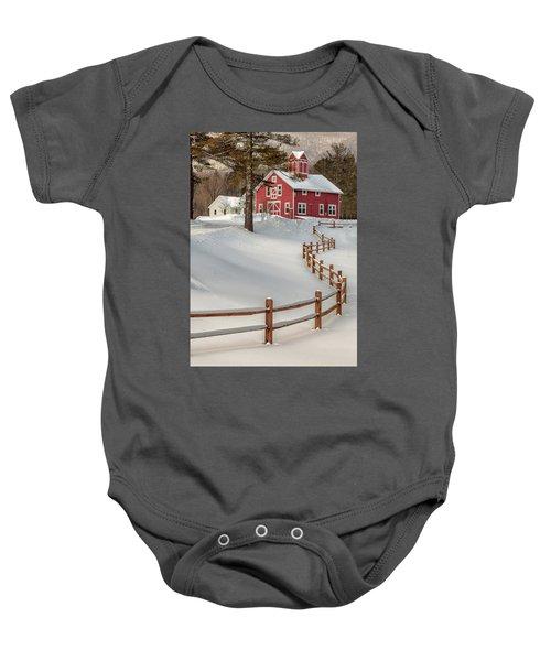 Classic Vermont Barn Baby Onesie