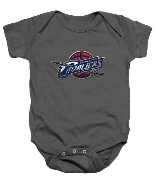 Cleveland Cavaliers - 3 D Badge Over Flag Baby Onesie