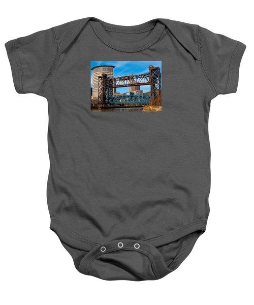 Cleveland City Of Bridges Baby Onesie