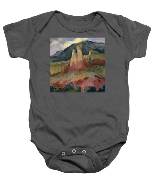Cliff Chimneys At Georgia O'keeffe's Ghost Ranch Baby Onesie