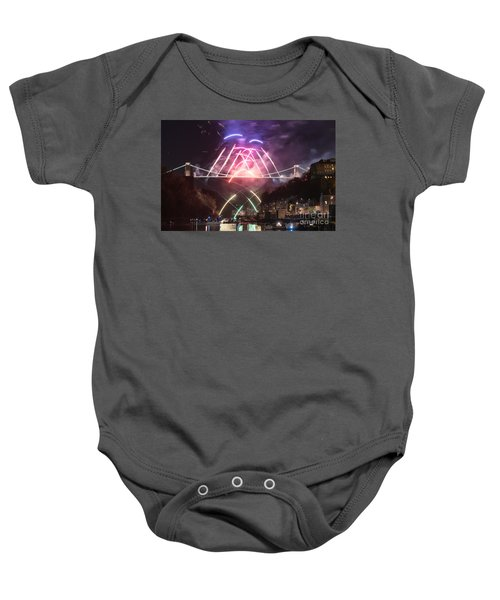 Clifton Suspension Bridge Fireworks Baby Onesie
