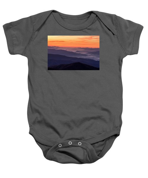 Clingmans Dome Fall Sunrise Baby Onesie