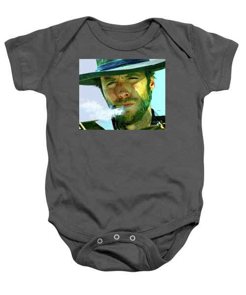 Clint Eastwood In Sergio Leone's Dollars Trilogy Baby Onesie