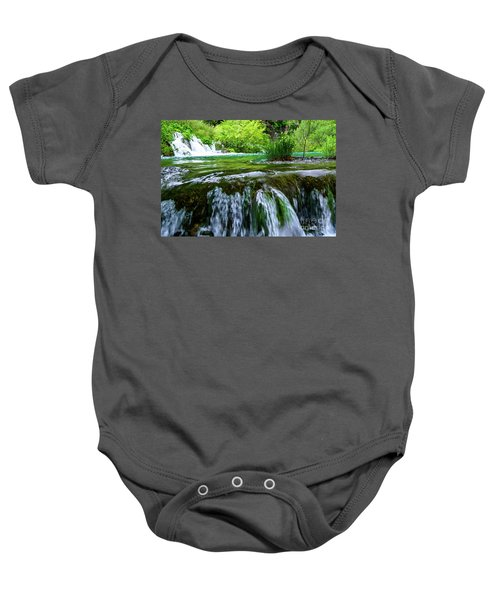 Close Up Waterfalls - Plitvice Lakes National Park, Croatia Baby Onesie
