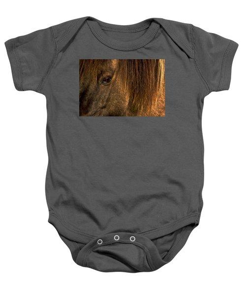 Closeup Of An Icelandic Horse #2 Baby Onesie