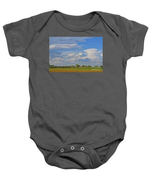 Clouds Aboive The Tree Farm Baby Onesie