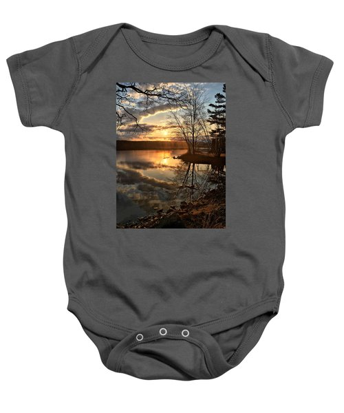 Clouds, Reflection And Sunset  Baby Onesie