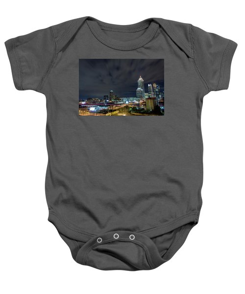 Cloudy City Baby Onesie