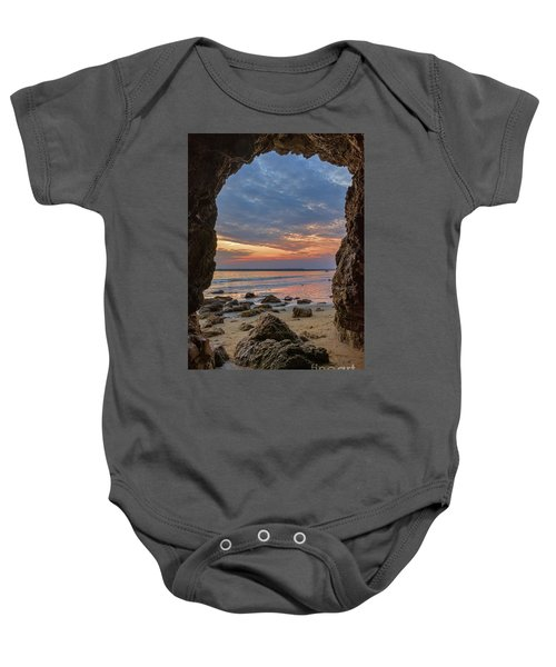 Cloudy Sunset At Low Tide Baby Onesie