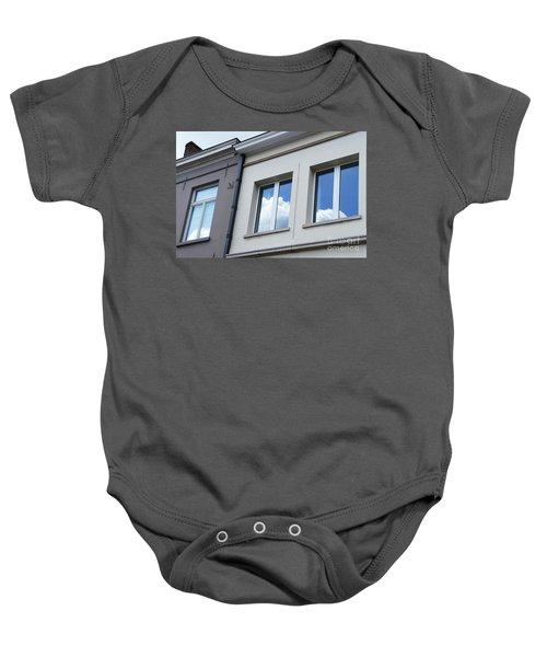 Cloudy Windows Baby Onesie