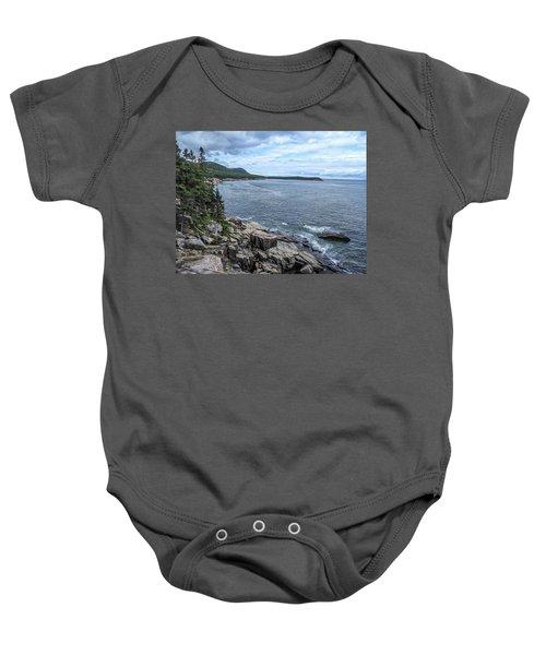 Coastal Landscape From Ocean Path Trail, Acadia National Park Baby Onesie
