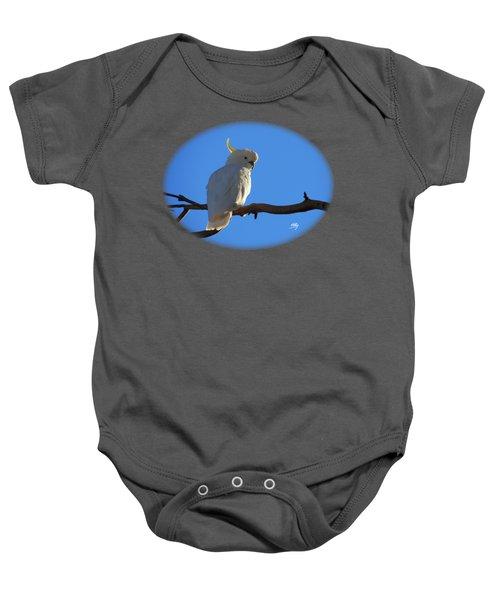 Cockatoo Baby Onesie by Linda Hollis