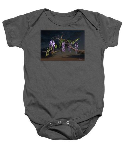 Cogan's Wisteria Tree Baby Onesie