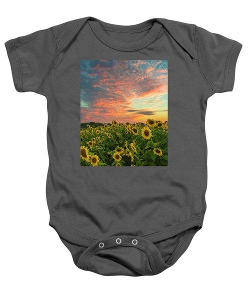 Colby Farm Sunflowers Baby Onesie
