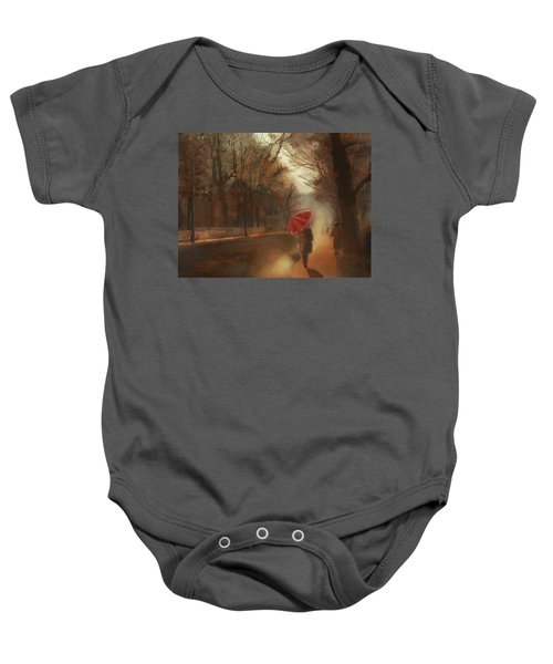 Cold Autumn Morning Painting Baby Onesie