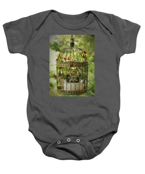 Coleus In Vintage Birdcage Baby Onesie