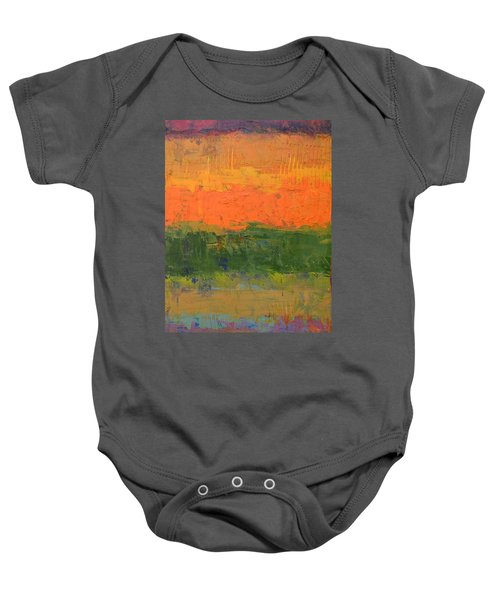 Baby Onesie featuring the painting Color Collage Four by Michelle Calkins