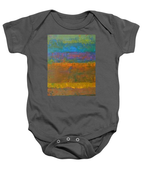 Baby Onesie featuring the painting Color Collage One by Michelle Calkins