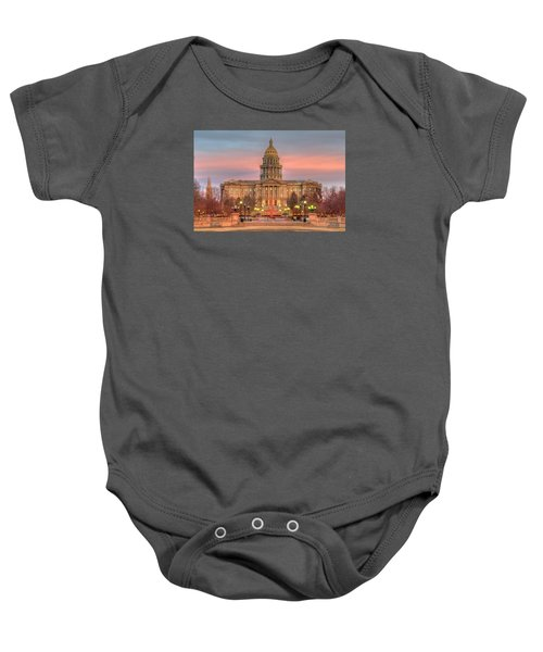 Baby Onesie featuring the photograph Colorado Capital by Gary Lengyel