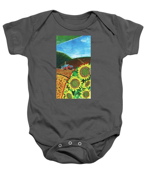 Colorado Sunflowers Baby Onesie