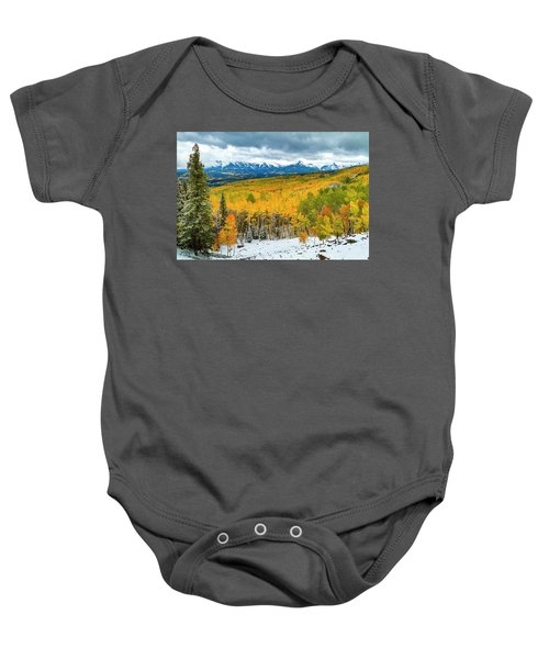 Colorado Valley Of Autumn Color Baby Onesie