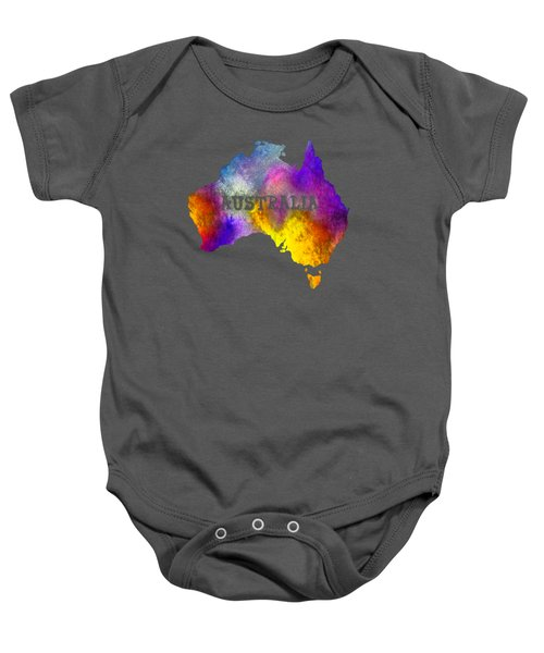 Colorful Australia Baby Onesie by Kaye Menner