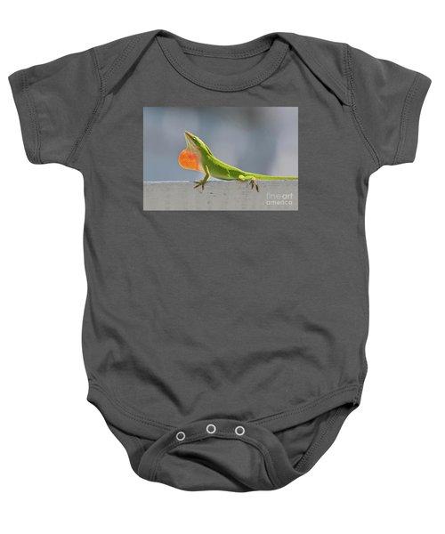 Colorful Carolina Anole Lizard Baby Onesie