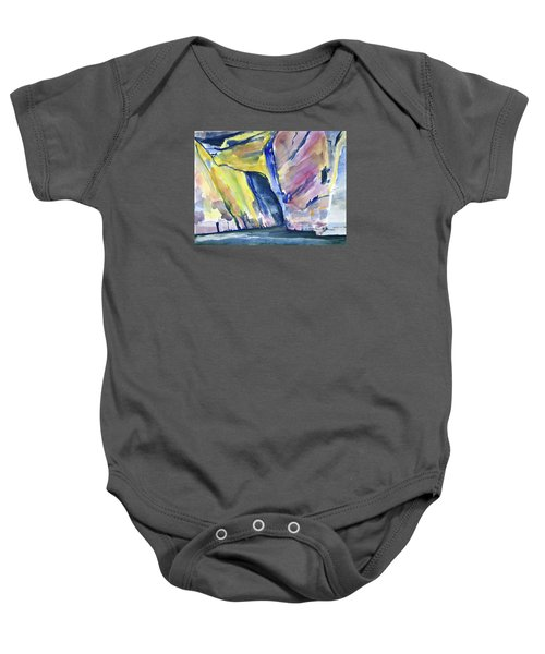 Colorful Cliffs And Cave Baby Onesie
