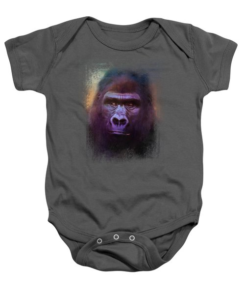 Colorful Expressions Gorilla Baby Onesie by Jai Johnson