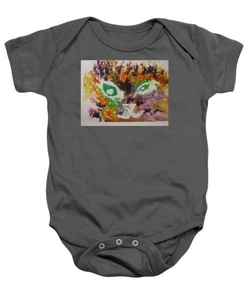 Colourful Cat Face Baby Onesie