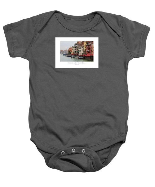 Colours Of The Grand Canal Baby Onesie