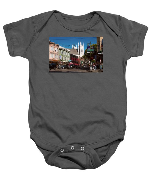 Columbus And Stockton In North Beach Baby Onesie