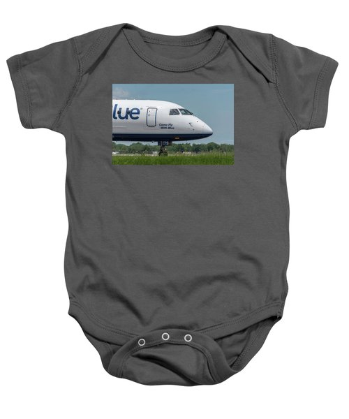 Come Fly With Blue Baby Onesie