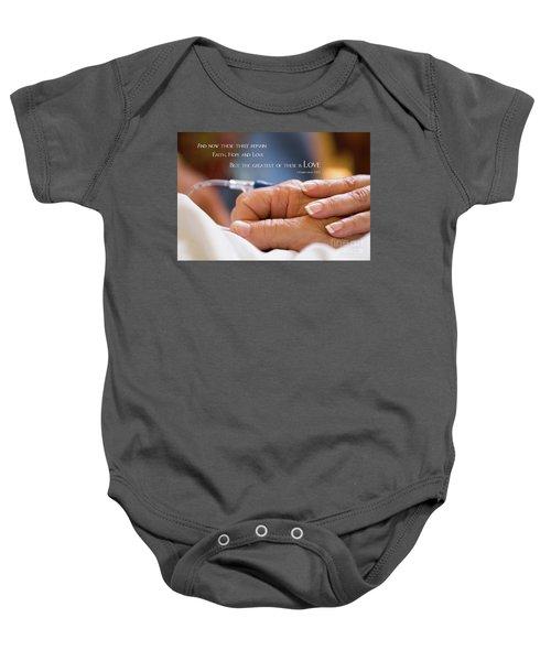 Comforting Hand Of Love Baby Onesie