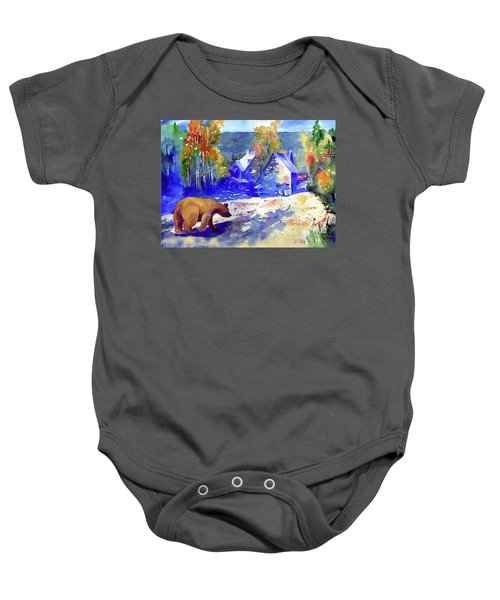 Coming For Dinner At Rainbow Lodge Baby Onesie