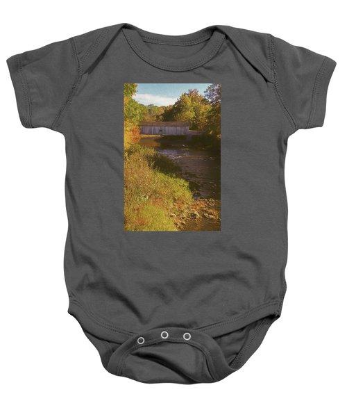 Comstock Covered Bridge Baby Onesie