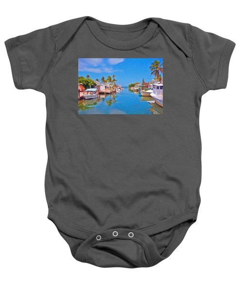 Conch Key Waterfront Living 3 Baby Onesie