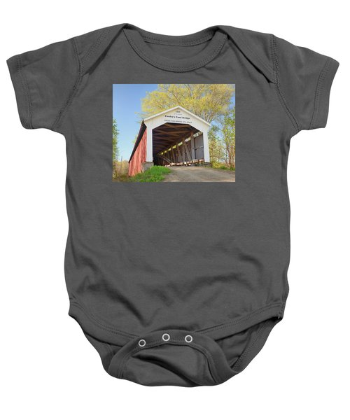 Conley's Ford Covered Bridge Baby Onesie