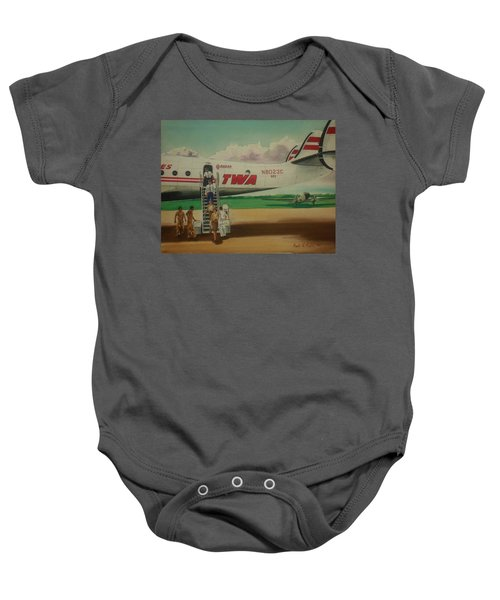Connie Crew Deplaning At Columbus Baby Onesie