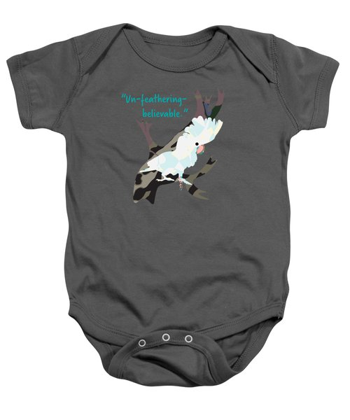 Cookie Cockatoo Baby Onesie by Geckojoy Gecko Books