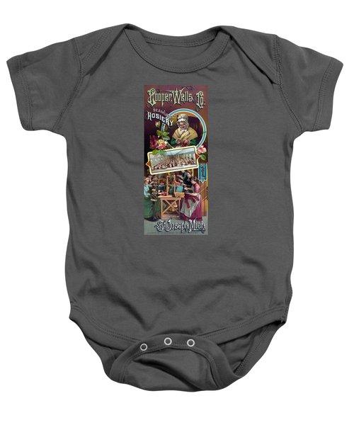 Cooper, Wells And Co. Seamless Hosiery - Vintage Advertising Poster Baby Onesie