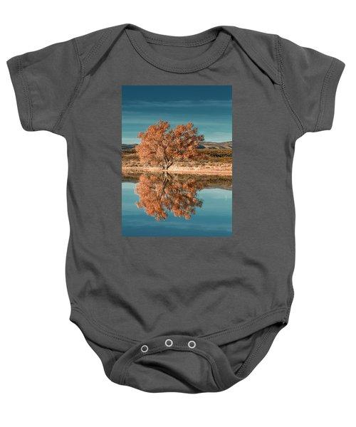 Cotton Wood Tree  Baby Onesie