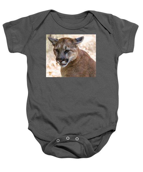 Cougar Portrait Baby Onesie