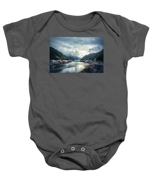 Cougar Reservoir On A Snowy Day Baby Onesie