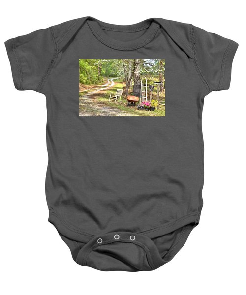 Country Driveway In Springtime Baby Onesie