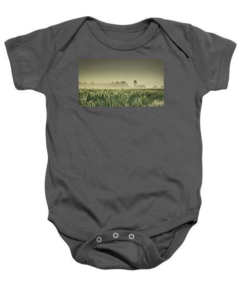 Country Farm Landscape Baby Onesie