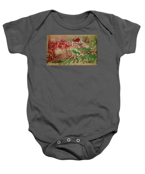 Country Home With Cottage Baby Onesie