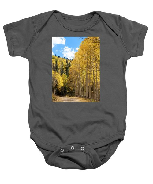 Baby Onesie featuring the photograph Country Roads by David Chandler