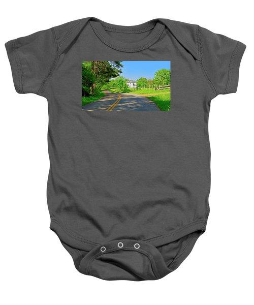 Country Roads Of America, Smith Mountain Lake, Va. Baby Onesie